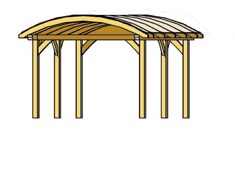 holz carport bausatz skanholz franken durchsichtiges. Black Bedroom Furniture Sets. Home Design Ideas