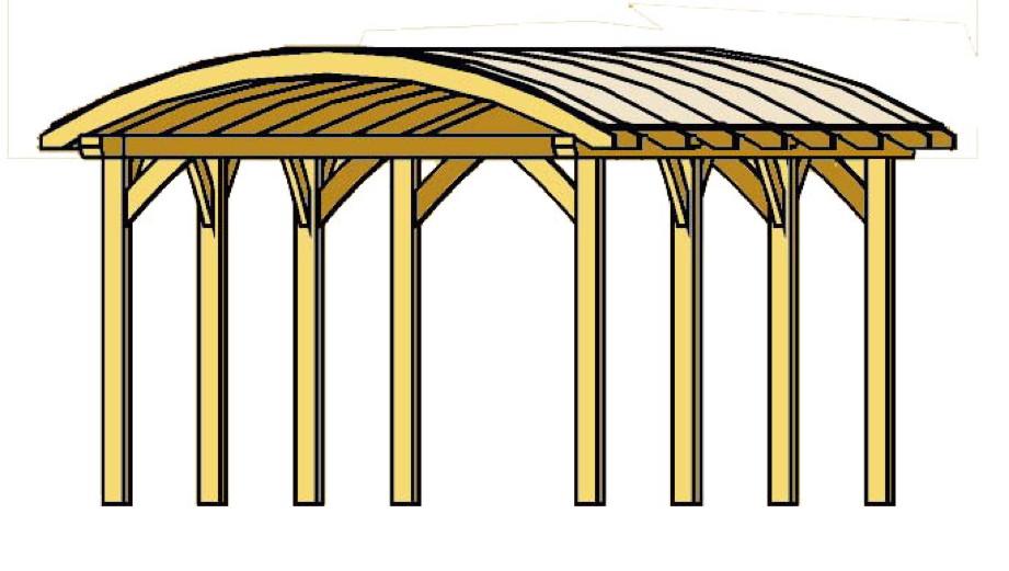 holz carport bausatz skanholz franken durchsichtiges tonnendach doppelcarport vom garagen. Black Bedroom Furniture Sets. Home Design Ideas