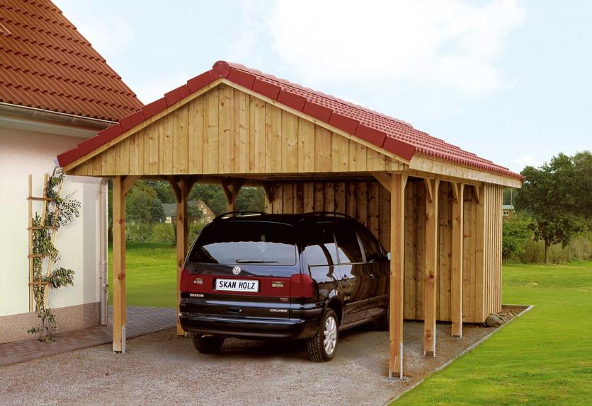 holz carport skanholz sauerland satteldach einzelcarport kaufen im holz garten. Black Bedroom Furniture Sets. Home Design Ideas