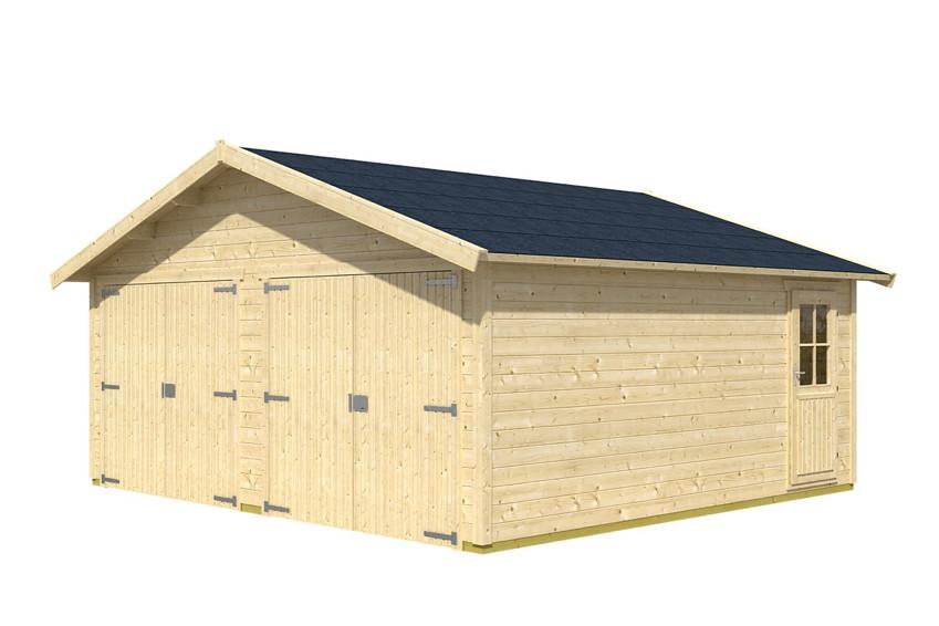 garage skanholz visby doppelgarage 28 mm holzgarage. Black Bedroom Furniture Sets. Home Design Ideas