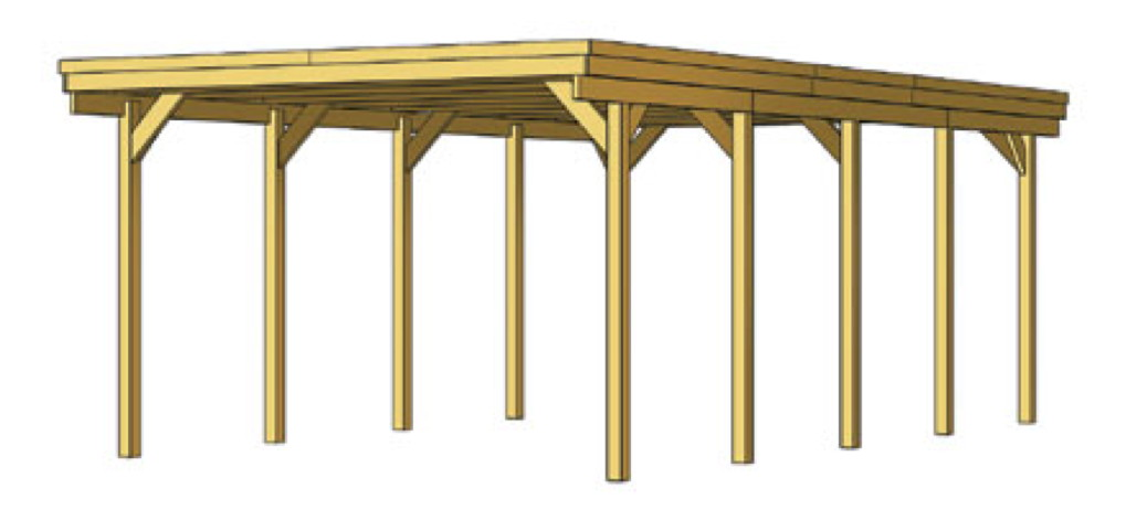 holz carport skanholz holstein flachdach doppelcarport. Black Bedroom Furniture Sets. Home Design Ideas