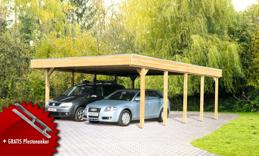 holz carport bausatz skanholz friesland aluminiunmdach. Black Bedroom Furniture Sets. Home Design Ideas