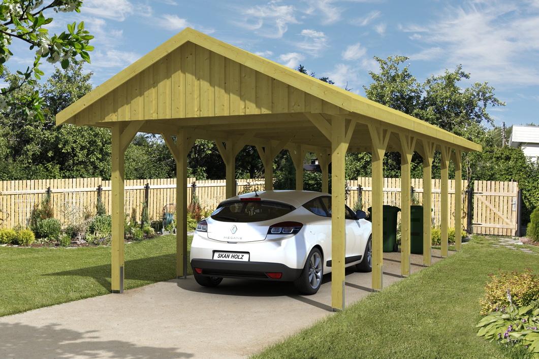holz carport skanholz sauerland einzelcarport mit dachschalung satteldach vom garagen. Black Bedroom Furniture Sets. Home Design Ideas