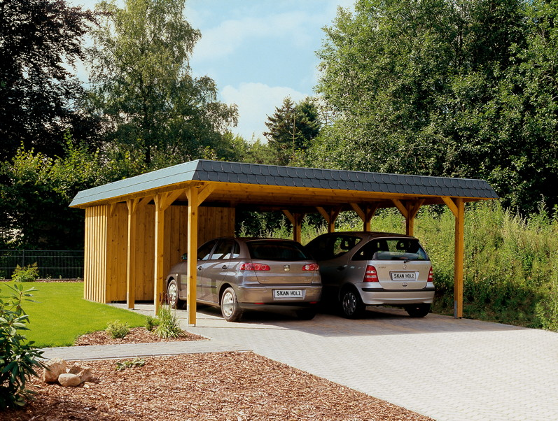 holz carport skanholz spreewald walmdach doppelcarport. Black Bedroom Furniture Sets. Home Design Ideas