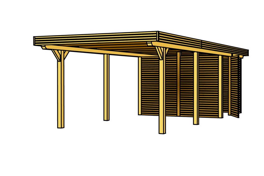 holz carport skanholz spessart flachdach doppelcarport. Black Bedroom Furniture Sets. Home Design Ideas