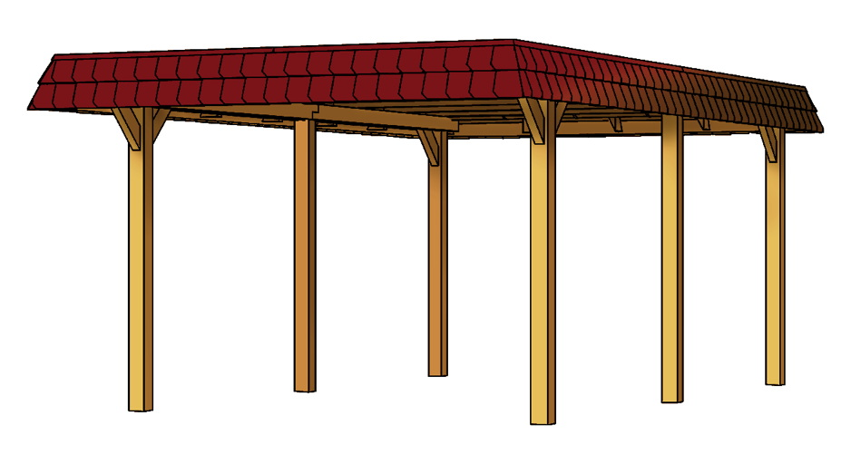 holz carport skanholz wendland walmdach einzelcarport. Black Bedroom Furniture Sets. Home Design Ideas
