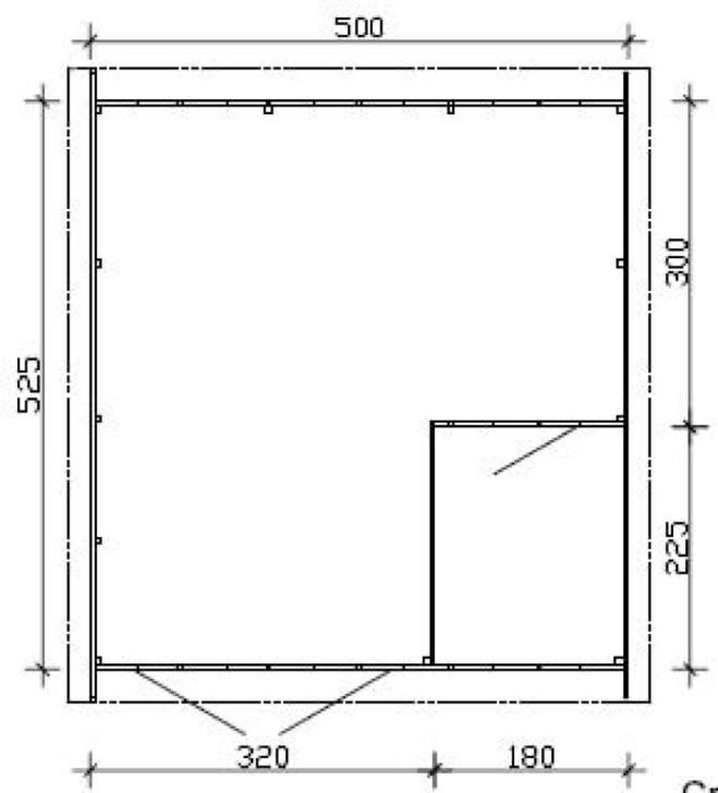Größe Garage: Garage SKANHOLZ «Visby» Einzelgarage Holzgarage Bausatz