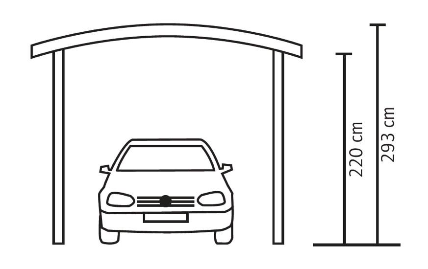 holz carport bausatz skanholz franken durchsichtiges runddach einzelcarport vom garagen. Black Bedroom Furniture Sets. Home Design Ideas