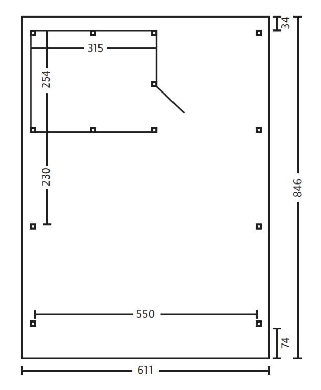 Carport Für 2 Autos: Holz-Carport SKANHOLZ «Spessart» Flachdach Doppelcarport