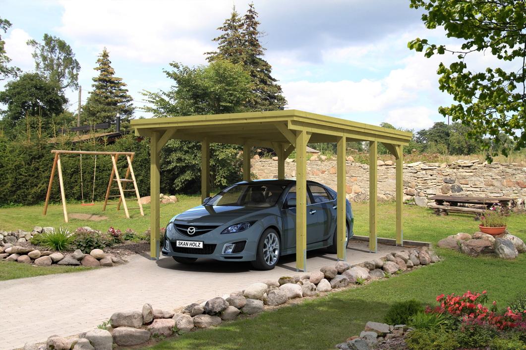 holz carport skanholz holstein flachdach einzelcarport vom garagen fachh ndler. Black Bedroom Furniture Sets. Home Design Ideas