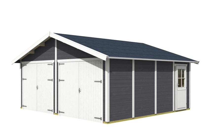 garage skanholz varberg doppelgarage holzgarage bausatz seitliche t r kaufen im holz haus. Black Bedroom Furniture Sets. Home Design Ideas