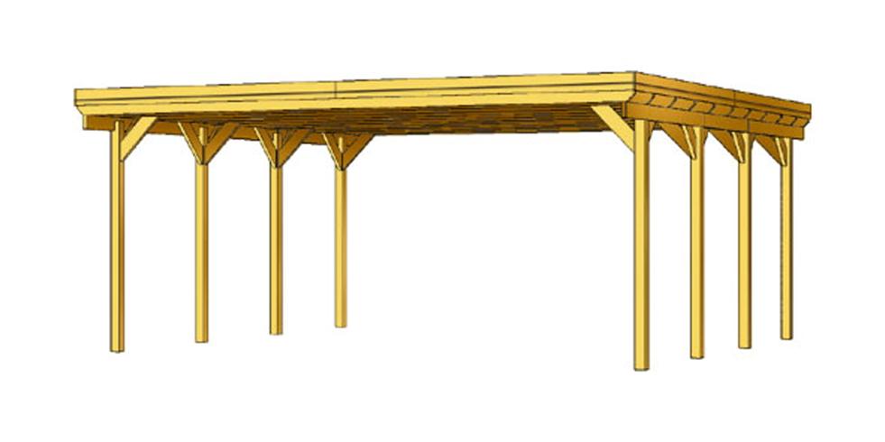 holz carport bausatz skanholz friesland holzdach. Black Bedroom Furniture Sets. Home Design Ideas